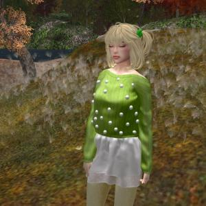 KitCat - Dots Outfit (Green)