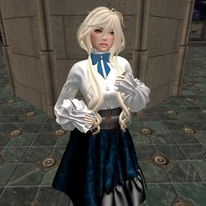 [RNK]Antique Dress_Dark Blue