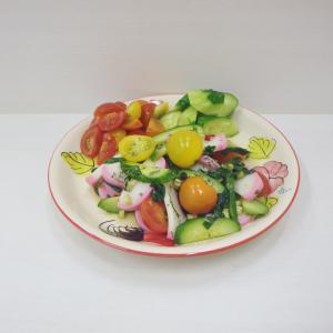12/10タイ風かまぼこサラダ、炭酸饅頭作り、白菜のミルフィーユ鍋、ルマンドアイス ストロベリー