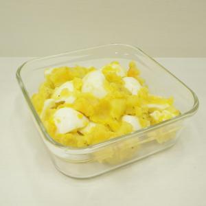 7/28低糖質ポテトサラダ、茄子のミートグラタン、ピオーネパフェ?、夏カレー、越後名物笹だんご