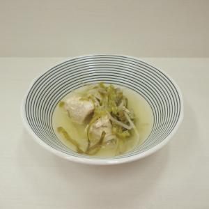 8/5鶏肉とキャベツの中華風スープ、焼き茄子の肉味噌がけ、ぶり照り焼き