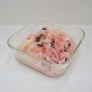 10/25無限キャベツ的な!塩もみなし&電子レンジ使用でキャベツと茄子、紅しょうがの浅漬け