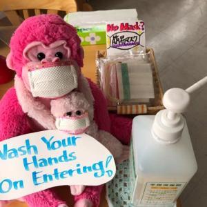 Wash your hands on entering ( ̄^ ̄)ゞ