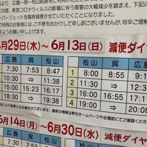疲れがどっと来てる日曜日「減便」は英語で?