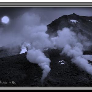 噴煙の旭岳