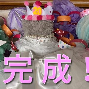 ミルの生誕祭に付け忘れてた王冠とパールのネックレスをつけて完成