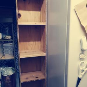 キッチンのDIYして棚