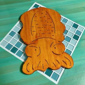 ★☆★ アオリイカ型の鍋敷きプレゼント ★☆★
