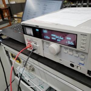 製袋機の耐電圧試験!