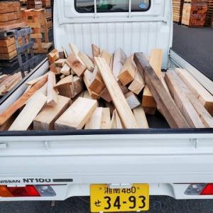 大量の焚き火用木材を頂きました!!
