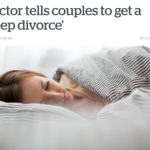 """Sleep Divorce""、我が家でただいま実践中"