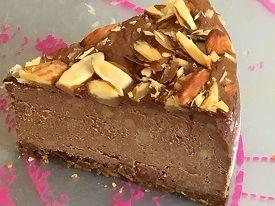 甘さ控えめ大人の?デザート【低糖質】ココア&ナッツ・ベイクドチーズケーキ