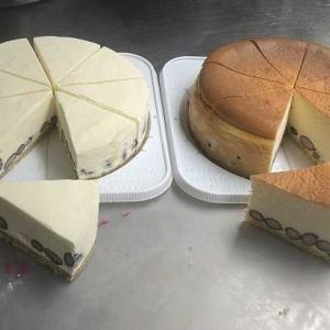 黒豆とチーズケーキ2つの味!!「黒豆ベイクド&レアチーズケーキ・2台セット」