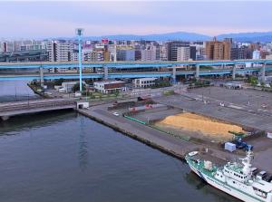 福岡シーバス【御笠川河口・チップ置き場前】
