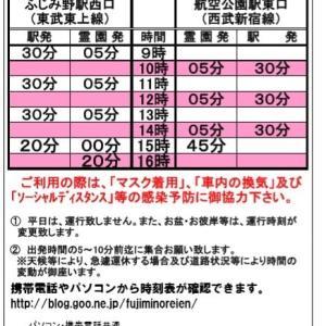 6月6日からの無料送迎バス及び開園時間について