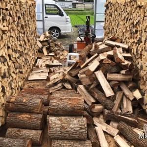 2003年から薪ストーブを焚いて薪割りは2004年から