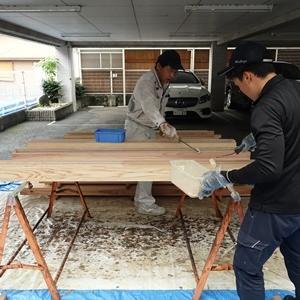 雨の日の現場作業