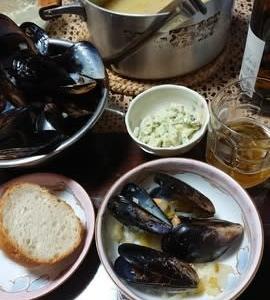 ベルギーのムール貝料理作ってみました