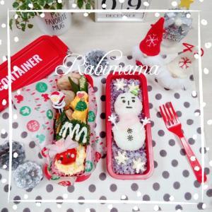 【クリスマスのお弁当】可愛い雪だるまのお弁当(≧▽≦)