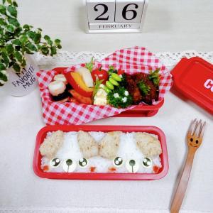 【簡単可愛い!わんちゃんツインズのお弁当&朝食パンサラダボール】(≧▽≦)
