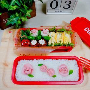 【薔薇のお弁当】ラブリーなお弁当が作りたくってw(≧▽≦)