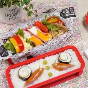 今日は母親大会記念日【梅雨弁*かたつむり(≧▽≦)&オープンサンド&炒飯と小鉢】