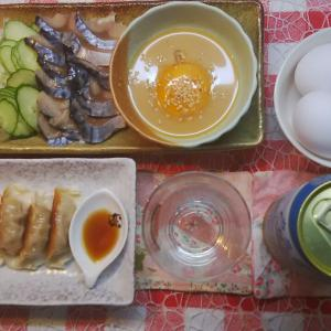 鯖の黄身酢味噌でおつまみ。