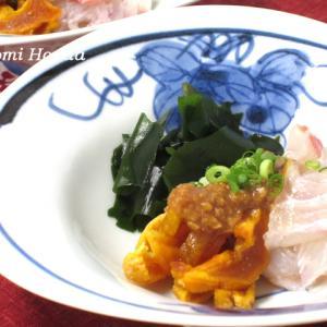韓国の半生干し柿を使って♪半生干し柿と海鮮の酢みそがけ☆韓国農水産食品流通公社(aTセンター)