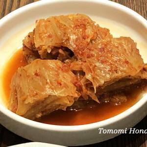 自家製の一年物の白菜キムチ(ムグンジ)を召し上がっていただきます♪