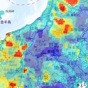 【3.11福島原発】日本国内の自然放射線量分布