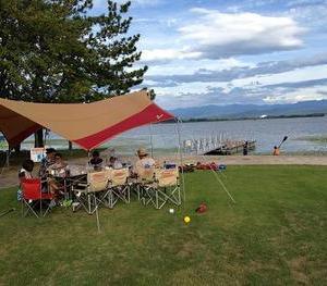 Kayak picnic