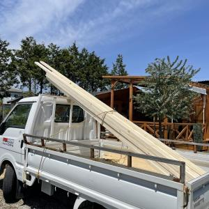 畑エリアに4個目の構築物製作です。