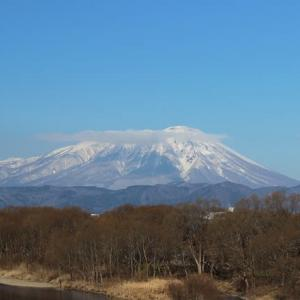 冬の日の岩手山