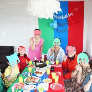 6歳と4歳の誕生日♡テーマはPJマスク!