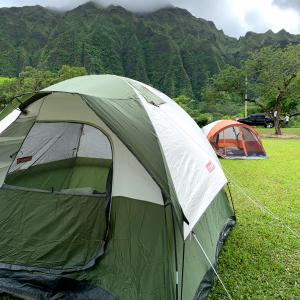 ハワイの山キャンプ
