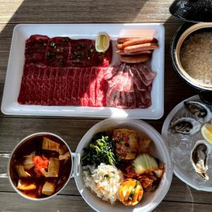 おうち焼き肉と生牡蠣