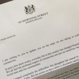 ♯おうちで過ごそう がんばれ首相ボリス!入院前に届いた手紙