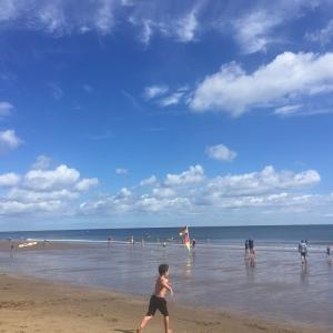 スカボロー・ビーチで砂遊び♪