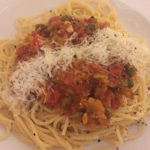 簡単めちゃうま!トマトとケイパーのソース