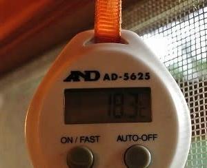 毎日暑いですね 我が家の朝は18℃