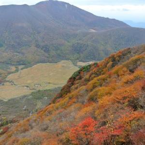 くじゅう 三俣山の紅葉