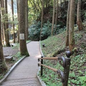 鍋ケ滝 滝の裏を通る
