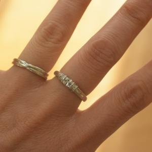 指輪を超音波洗浄~♪キラキラが蘇りました✨