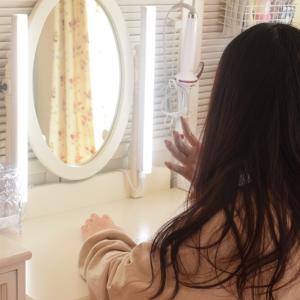 【娘の部屋】女優ライト!?ドレッサーにライトを取り付け✨【メイクライト】