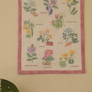 【娘の刺繍作品が完成】リビングの壁に飾る♪
