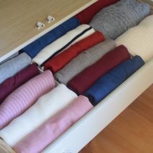 【買わずに家にある〇〇を使って】服を綺麗に畳む♪【衣替え】