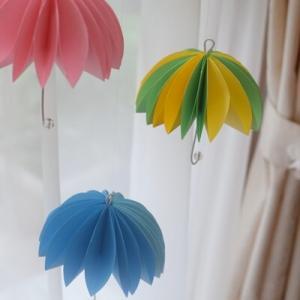 【100均材料で】可愛い傘のモビールを手作り♪【梅雨時にぴったり】
