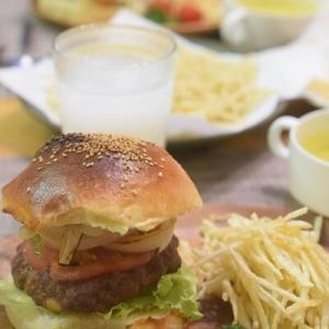 【アメリカンな夕飯】バンズから作る✨手作りハンバーガー&楽天お買い物マラソンポチレポ