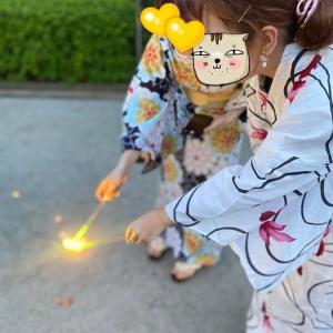 【娘の友達が遊びに来ました】ジェルネイル&浴衣で花火♪