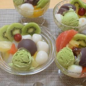【冷たいおやつ】白玉クリームあんみつを作る♪【キャンドゥの100円アイスクリームディッシャー】